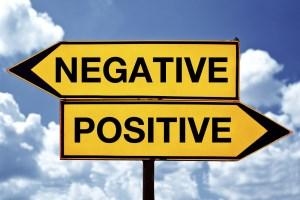 Positive vs. negative